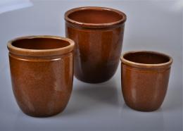 Forside varia krukker blomsterkrukker brune glaseret